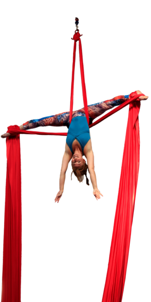 Aerialists long red